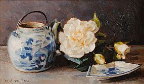 Mark O'Neill (b.1963), Chinese Blue and Camelias at Morgan O'Driscoll Art Auctions