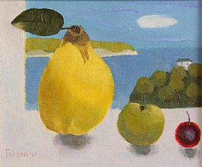 Mary Fedden RA (1915-2012) British, Still Life, Fruit in the Window at Morgan O'Driscoll Art Auctions
