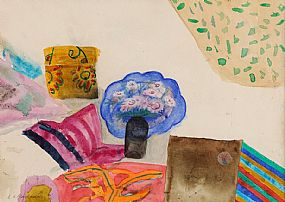 Elizabeth Violet Blackadder RSA ARA RSW (b.1931) Scottish, Still Life With Blue Plate at Morgan O'Driscoll Art Auctions