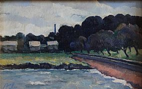 Peter Collis RHA (1929-2012), River Bank, Wicklow at Morgan O'Driscoll Art Auctions