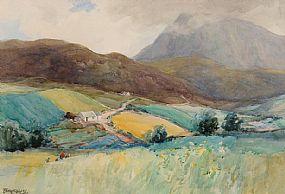 Frank McKelvey RHA RUA (1895-1974), Cottage and Figures at Morgan O'Driscoll Art Auctions