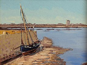 Ivan Sutton (b.1944), Low Tide, Kinvara, Co. Galway at Morgan O'Driscoll Art Auctions