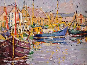 James S. Brohan (b.1952), Howth Harbour at Morgan O'Driscoll Art Auctions