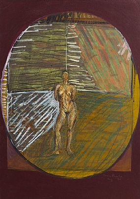 Brian Bourke HRHA (b.1936), Figure in a Landscape (Mother Earth The Four Seasons) at Morgan O'Driscoll Art Auctions