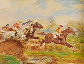 Gretta Bowen (1880-1981), Over The Jump at Morgan O'Driscoll Art Auctions