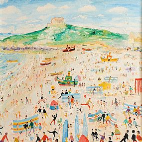 Simeon Stafford (b.1956), The Beach, St. Ives at Morgan O'Driscoll Art Auctions
