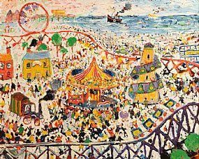 Simeon Stafford (b.1956), The Funfair at Morgan O'Driscoll Art Auctions