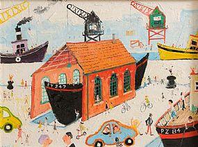 Simeon Stafford (b.1956), The Boat Yard at Morgan O'Driscoll Art Auctions