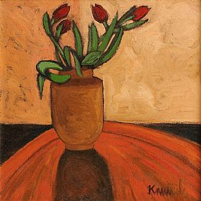 Graham Knuttel (b.1954), Red Tulips at Morgan O'Driscoll Art Auctions