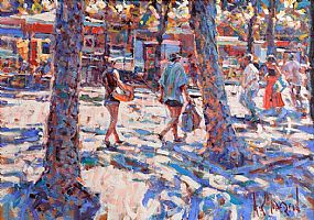 Arthur K. Maderson (b.1942), Market Day, Lodeve at Morgan O'Driscoll Art Auctions