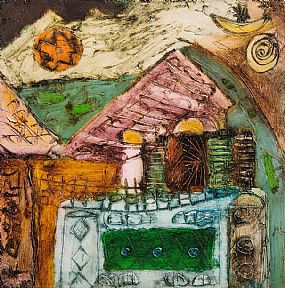 Padraig MacMiadhachain RWA (b.1929), Small House With Balcony (Puerto Andraitx Series) at Morgan O'Driscoll Art Auctions