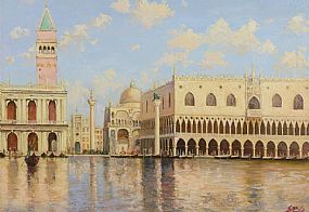 Yuri Studeniken (20th/21st Century) Russian, Venetian Midday - Doges Palace at Morgan O'Driscoll Art Auctions