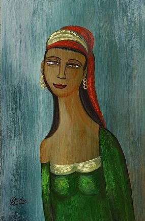 Jimmy Bingham (1925-2009), Lady With Turban at Morgan O'Driscoll Art Auctions