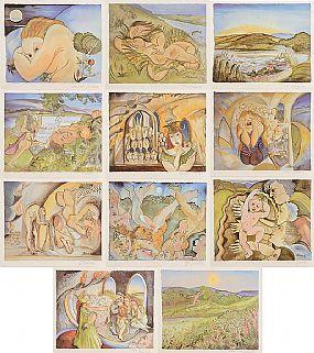 Pauline Bewick RHA (b.1935), The Visual Translation of The Midnight Court at Morgan O'Driscoll Art Auctions