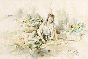 Gordon King (b.1939) British, The Flower Girl at Morgan O'Driscoll Art Auctions