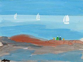 Markey Robinson (1918-1999), Watching The Boats at Morgan O'Driscoll Art Auctions
