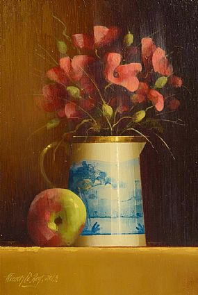 David Ffrench Le Roy (b.1971), Still Life of Flowers and Fruit at Morgan O'Driscoll Art Auctions