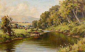 Charles J. McAuley RUA ARSA (1900-1999), River Dun, Cushendum at Morgan O'Driscoll Art Auctions