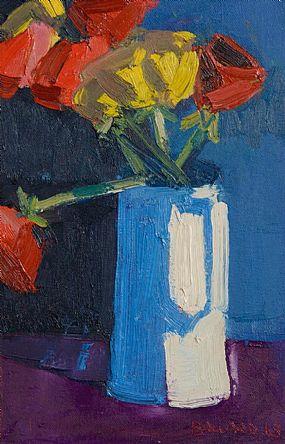 Brian Ballard RUA (b.1943), Yellow and Red Tulips at Morgan O'Driscoll Art Auctions