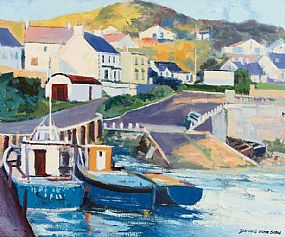 Denis Orme Shaw (b.1944), Downings Donegal at Morgan O'Driscoll Art Auctions