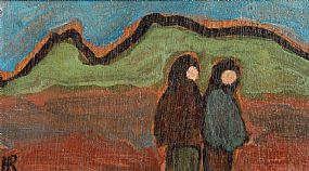 Markey Robinson (1918-1999), Two Shawlies at Morgan O'Driscoll Art Auctions