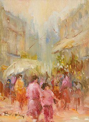Elizabeth Brophy (20th/21st Century), Rue de Rivoli at Morgan O'Driscoll Art Auctions