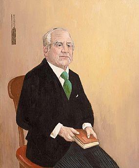 John Schwatschke (b.1943), Portrait of Cyril Cusack at Morgan O'Driscoll Art Auctions