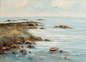 Harry Palson (20th/21st Century) English, Sailing Off The Coast at Morgan O'Driscoll Art Auctions
