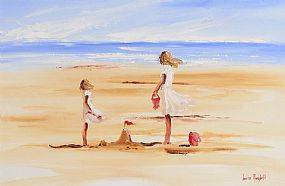 Louise Mansfield (b.1950), Building Sandcastles at Morgan O'Driscoll Art Auctions
