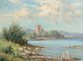 Rowland Hill ARUA (1915-1979), Doe Castle Mulroy Bay, Co. Donegal at Morgan O'Driscoll Art Auctions