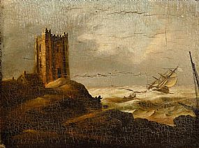 William Sadler II c.(1782-1839), Shipping off the Coast with a Castle at Morgan O'Driscoll Art Auctions