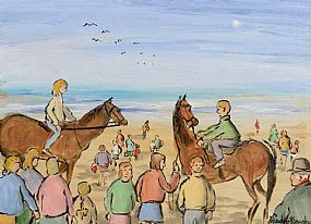 Gladys MacCabe ROI FRSA MA HRUA (1918-2018), Beach Riders at Morgan O'Driscoll Art Auctions