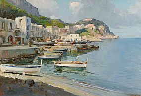 Robert Taylor Carson HRUA (1919-2008), Isle of Capri at Morgan O'Driscoll Art Auctions
