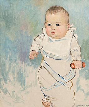 Mary Swanzy HRHA (1882-1978), Slovak Baby Boy 1919 at Morgan O'Driscoll Art Auctions