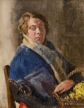 Leo Whelan RHA (1892-1956), The Flower Seller (Portrait of the Artist's Sister) at Morgan O'Driscoll Art Auctions