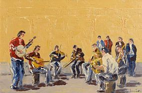 Ivan Sutton (b.1944), Irish Ceili Musicians at Morgan O'Driscoll Art Auctions