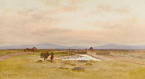 Joseph William Carey RUA (1859-1937), The Bog of Allen at Morgan O'Driscoll Art Auctions