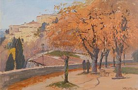 Cecil Maguire RHA RUA (b.1930), Todi October Umbria at Morgan O'Driscoll Art Auctions