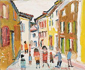 Fred Yeats (b.1922), My Street at Morgan O'Driscoll Art Auctions