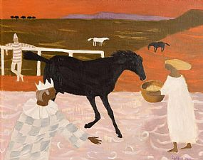 Mary Fedden RA (1915-2012) British, The Black Horse at Morgan O'Driscoll Art Auctions