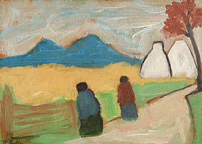 Markey Robinson (1918-1999), Figures by the Cornfield at Morgan O'Driscoll Art Auctions