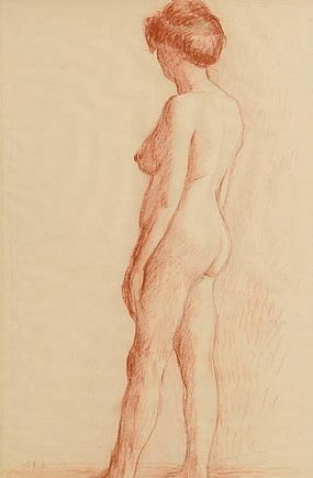 John Luke RUA (1906-1975), Female Nude Study at Morgan O'Driscoll Art Auctions