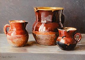 Mark O'Neill (b.1963), Three Provencal Glazed Jugs at Morgan O'Driscoll Art Auctions