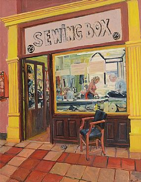 Hector McDonnell RUA (b.1947), The Sewing Room at Morgan O'Driscoll Art Auctions