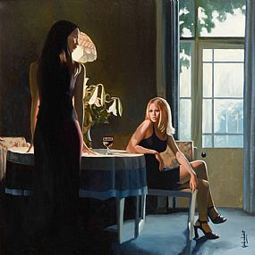 John Luce Lockett (b.1952) English, Two Sisters at Morgan O'Driscoll Art Auctions