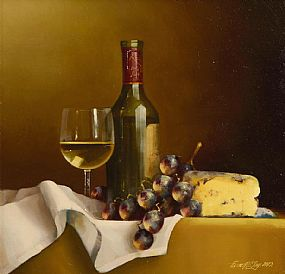 David Ffrench Le Roy (b.1971), Still Life with Chardonnay at Morgan O'Driscoll Art Auctions