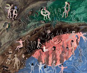 Fred Yeats (b.1922) British, Night Swimming at Morgan O'Driscoll Art Auctions