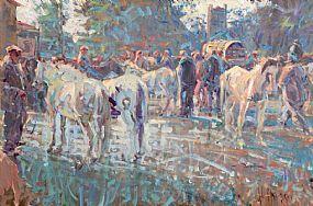Arthur K. Maderson (b.1942), Woodsmoke, Tallow Horse Fair at Morgan O'Driscoll Art Auctions