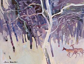 John Skelton Snr (1923-2009), Deer in Winter at Morgan O'Driscoll Art Auctions