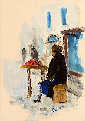 Seamus O'Colmain (1925-1990), Market Stall at Morgan O'Driscoll Art Auctions